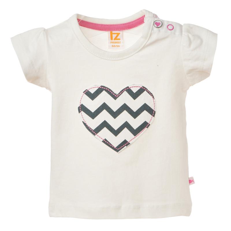 Βαμβακερό μπλουζάκι για μωρά με σχέδιο καρδιάς  182053