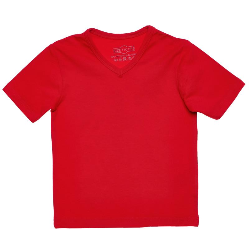 Βαμβακερό μπλουζάκι σε κόκκινο χρώμα για κορίτσια  182128