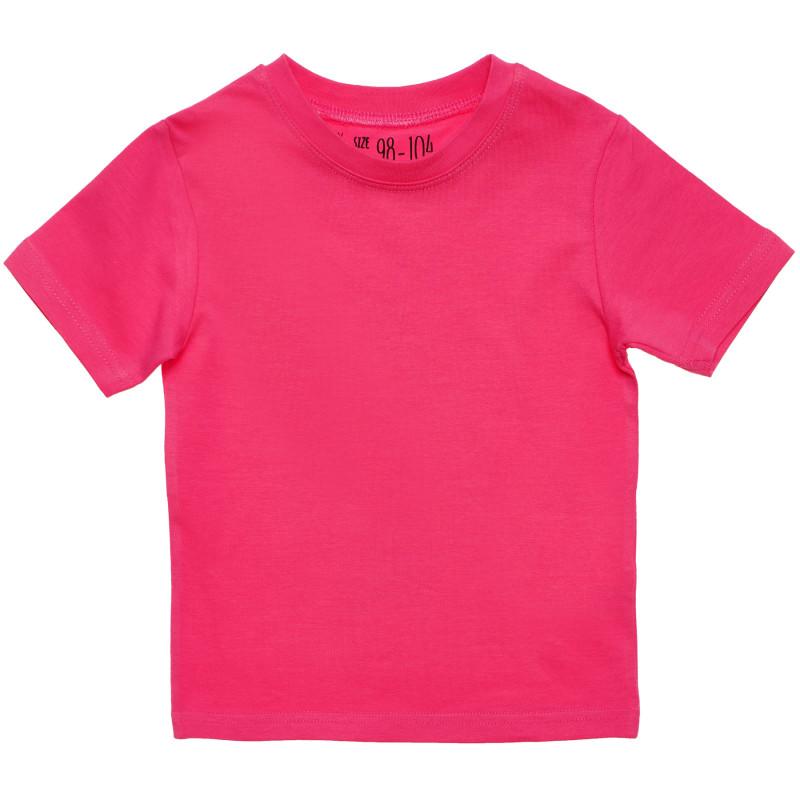 Βαμβακερό μπλουζάκι για κορίτσια , ροζ  182140