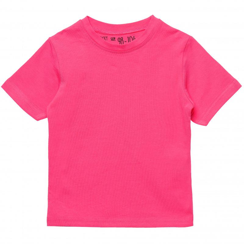 Βαμβακερό μπλουζάκι για κορίτσια σε ροζ χρώμα  182239