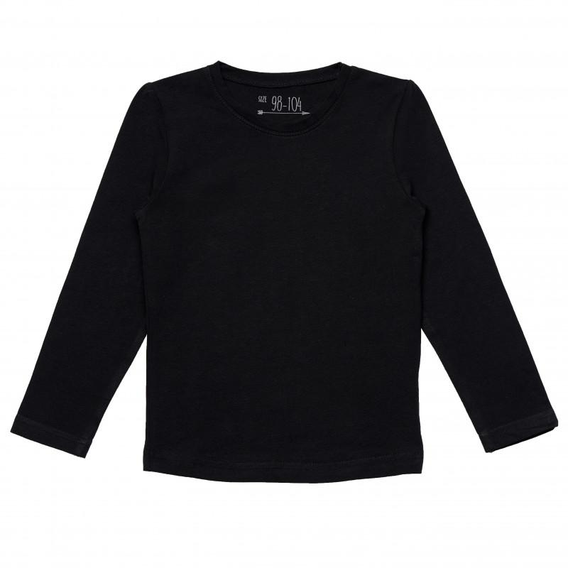 Βαμβακερή μπλούζα σε μαύρο χρώμα για κορίτσια  182277