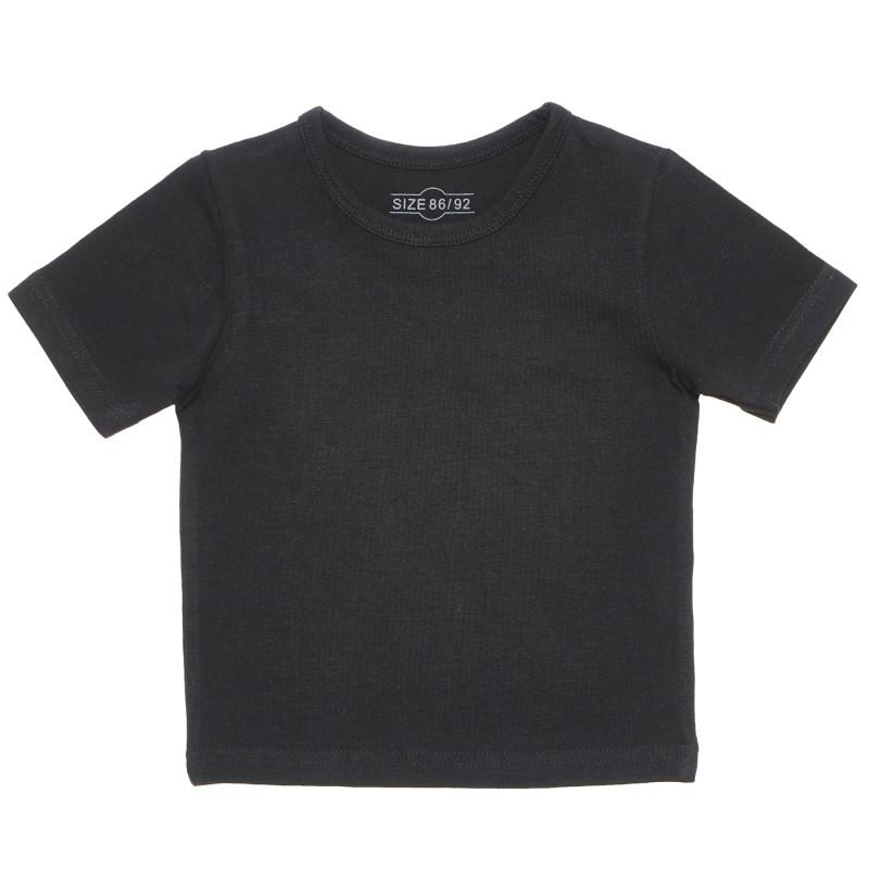 Βαμβακερό μπλουζάκι σε μαύρο χρώμα για κορίτσια  182280