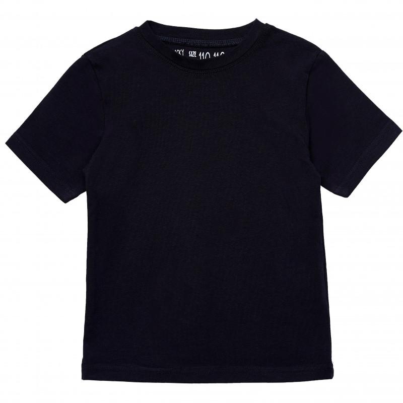 Βαμβακερό μπλουζάκι για κορίτσια, σε μπλε ναυτικό χρώμα  182405