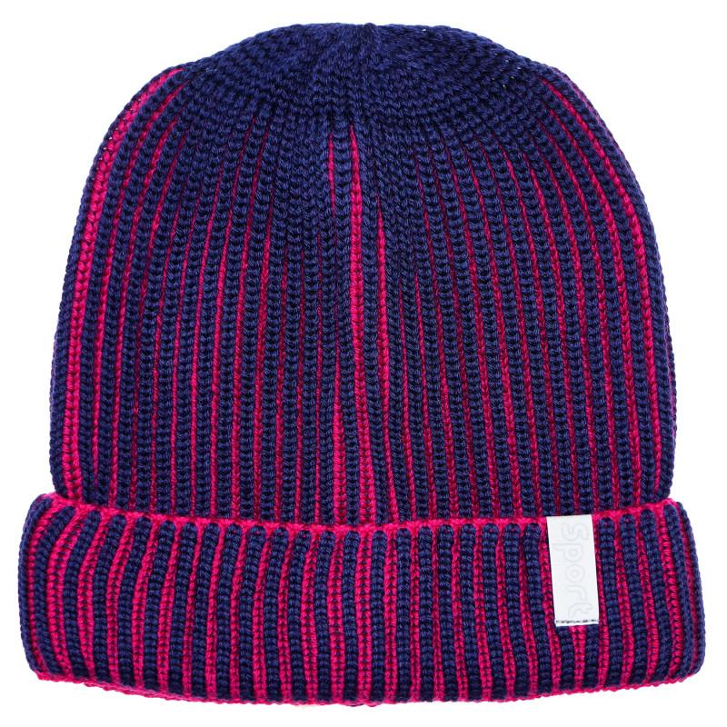 Πλεκτό καπέλο σε μπλε χρώμα για αγόρια  182754