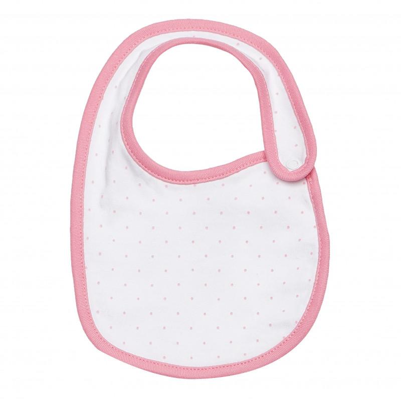 Βαμβακερή σαλιάρα για μωρά, ροζ  182783
