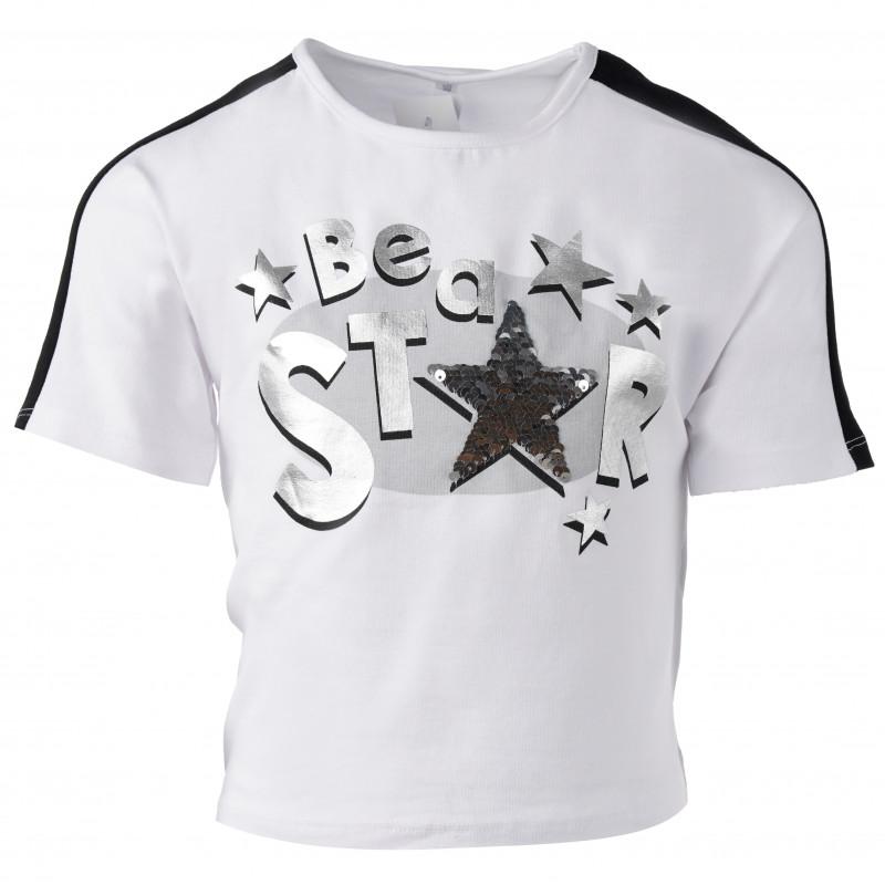 """Μπλουζάκι, σχέδιο""""Be a star"""", για κορίτσια  183520"""