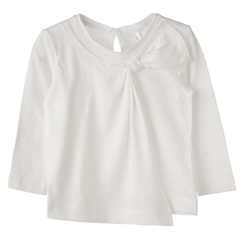 Βαμβακερό μπλουζάκι με χαριτωμένο φιόγκο για κορίτσια  183536