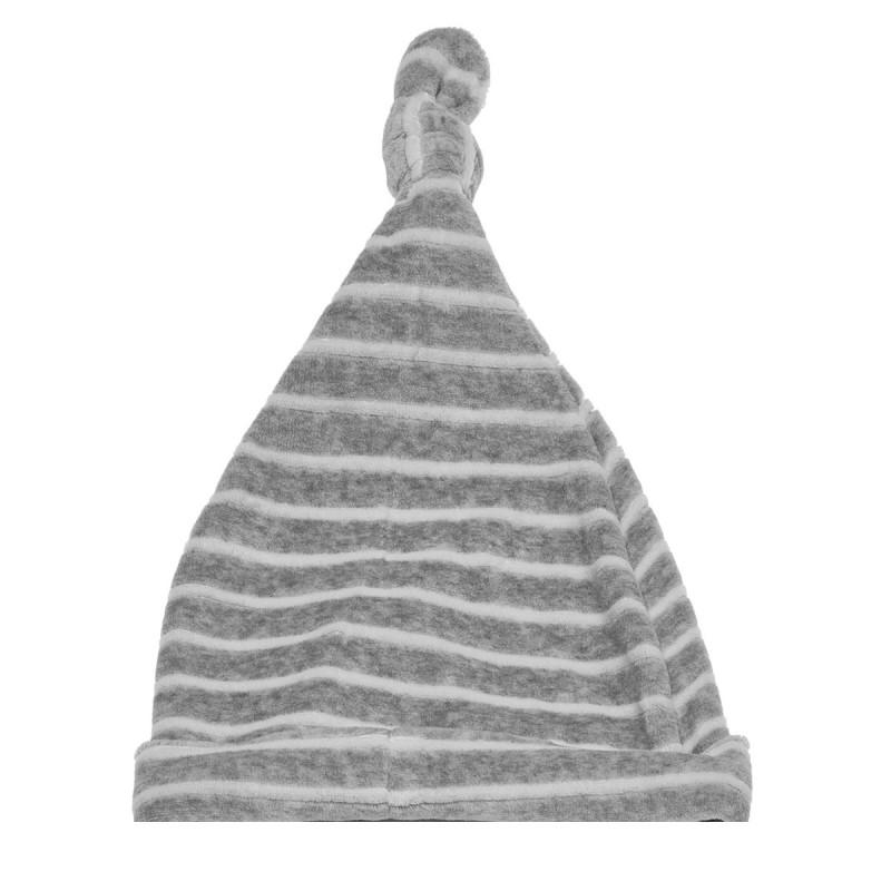 Ριγέ σκούφος μωρού, γκρι  183904