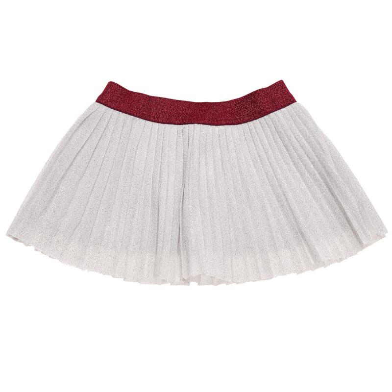 Βρεφική φούστα με πιέτες και ζωνάκι σε αντίθεση  184498