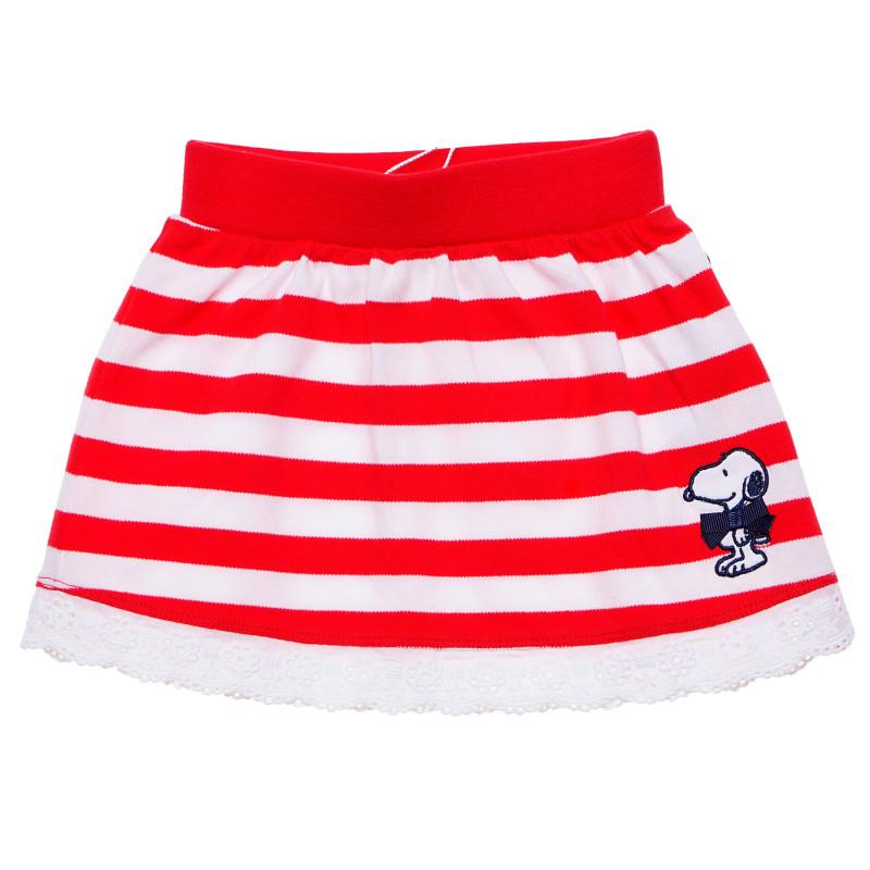 Πολύχρωμη φούστα για κορίτσι σε κόκκινο και λευκό  184874