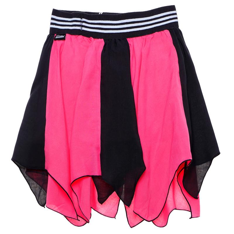 Πολύχρωμη φούστα για κορίτσι σε ροζ και μαύρο  184878