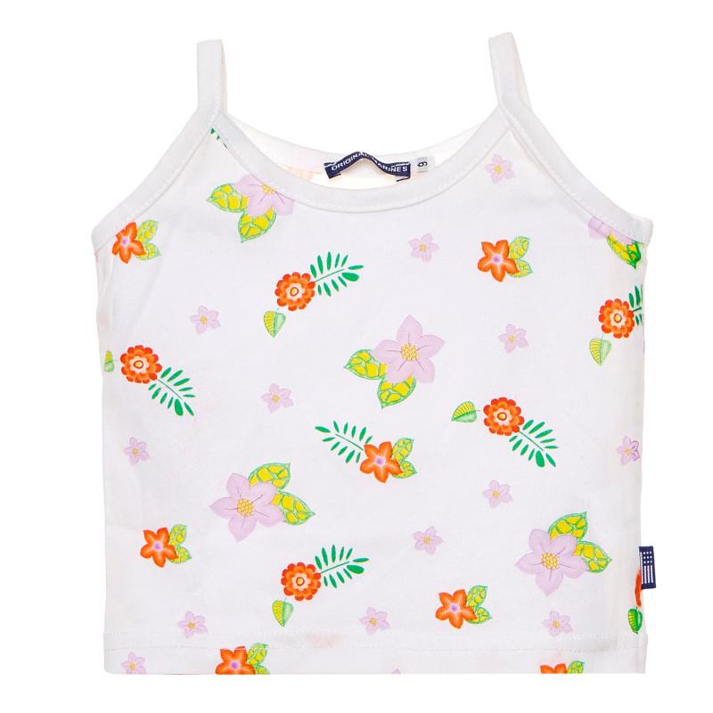Βαμβακερή μπλούζα για κορίτσι, λευκό  184914