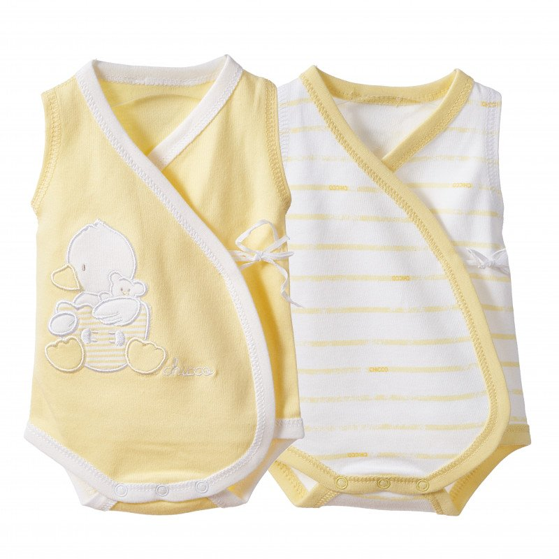 Βαμβακερό σετ από δύο φορμάκια για μωρό, κίτρινο χρώμα          184930