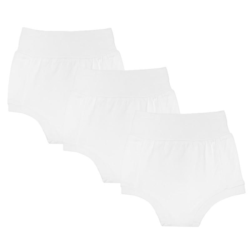 Σετ βαμβακερά εσώρουχα μωρού, λευκό  184995