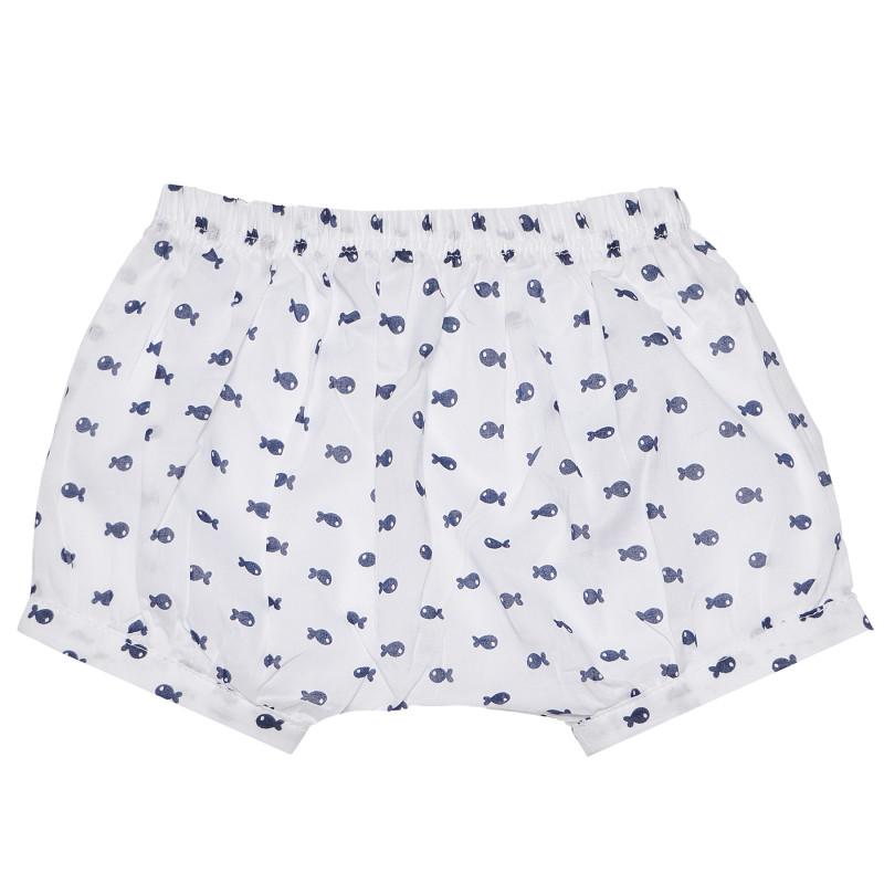 Παντελόνι, λευκό με τύπωμα ψάρια  185006