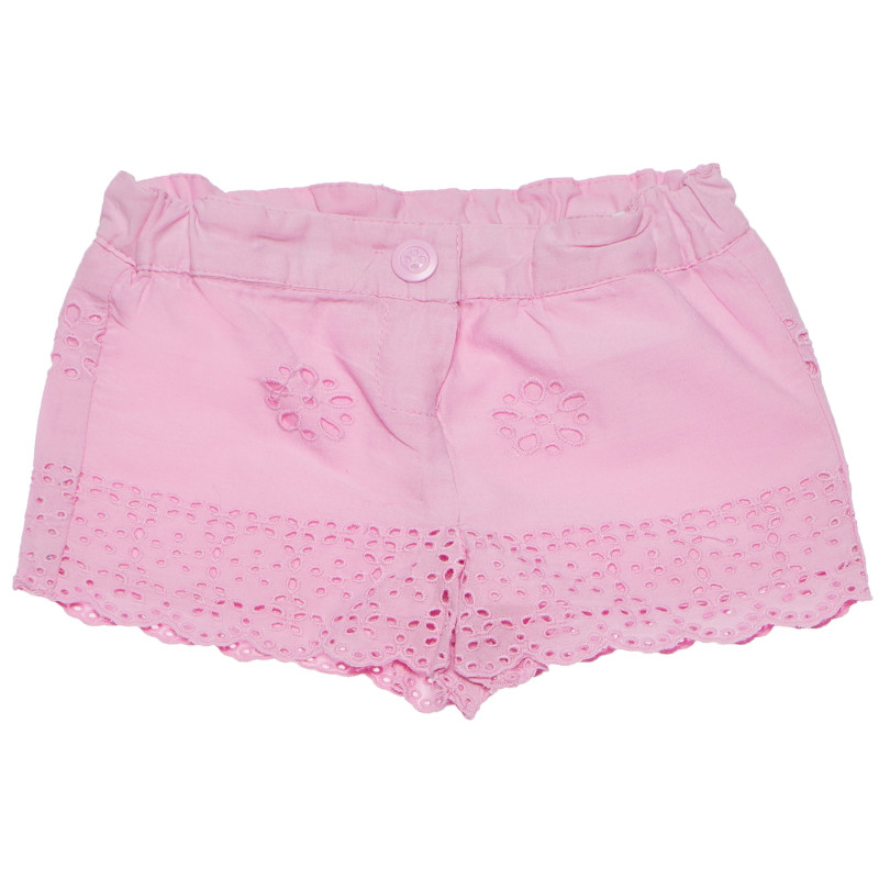 Βαμβακερό παντελόνι για μωρό, ροζ  185031