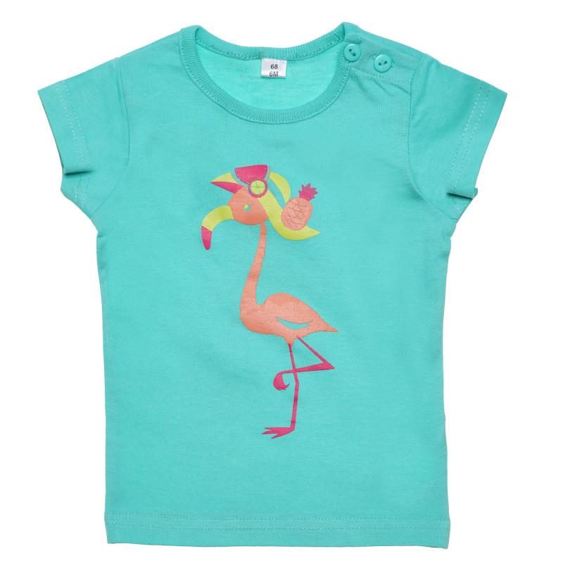 Σετ βαμβακιού δύο τεμαχίων: μπλούζα και παντελόνι για κορίτσι  185443
