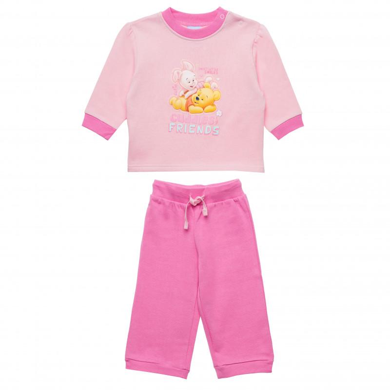 Σετ δύο κομματιών: μπλούζα και παντελόνι για κορίτσι, ροζ  185473
