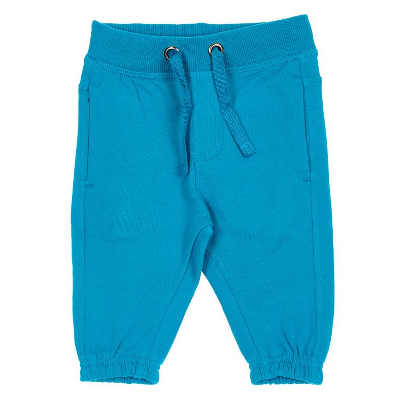 Βαμβακερό παντελόνι σε μπλε χρώμα με ελαστικά άκρα, για αγόρι  188892