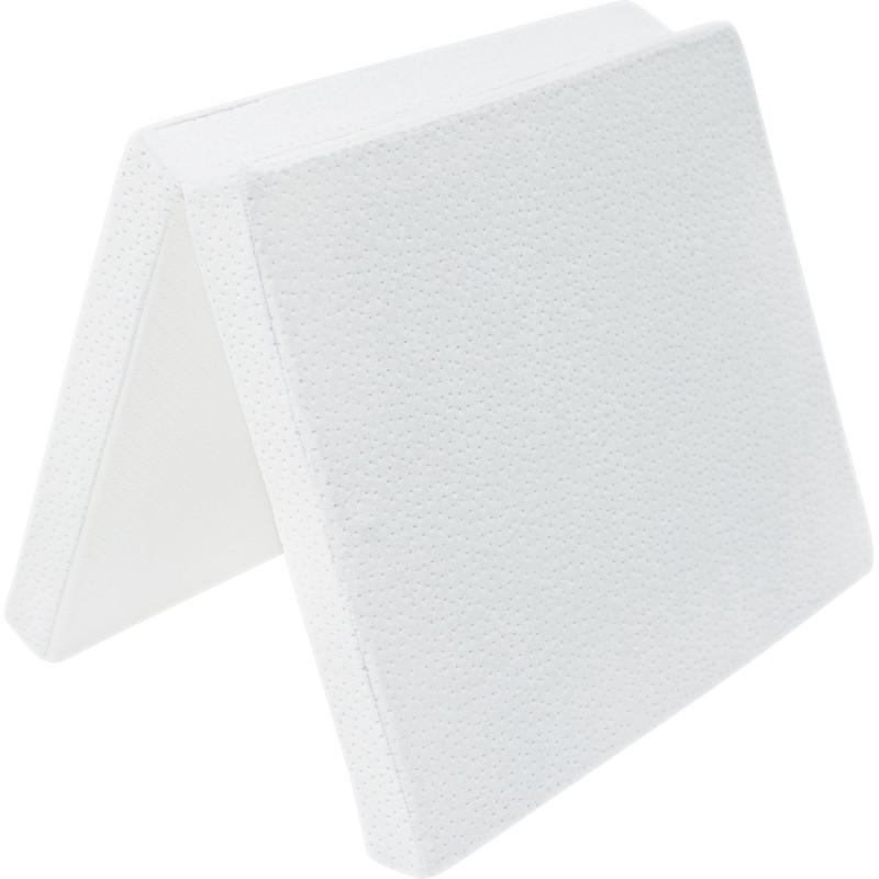 Μονό πτυσσόμενο στρώμα μίνι 45x80x5 cm, Λευκό βελούδο  189353