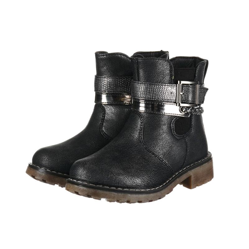 Μαύρες μπότες με αγκράφα για κορίτσι  192896
