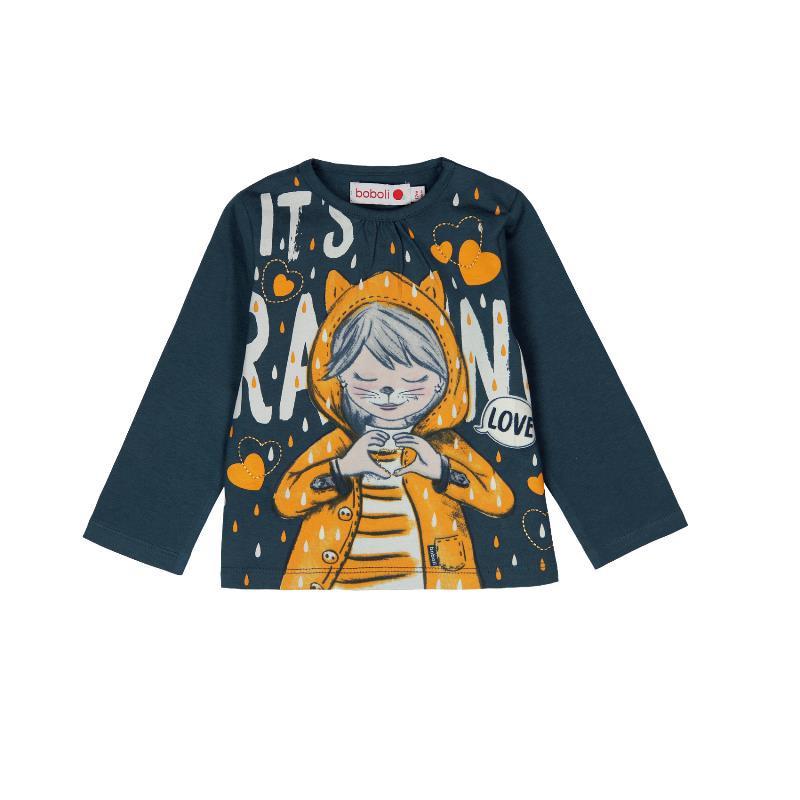 Μακρυμάνικη μπλούζα για κοριτσάκια με φωτεινά στοιχεία στο σκοτάδι  196
