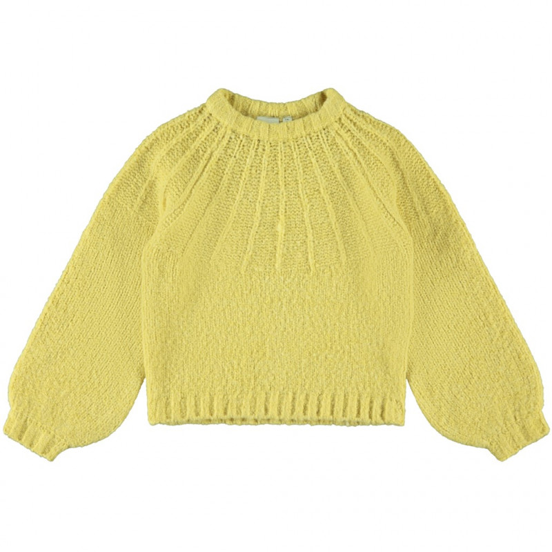 Πλεκτό πουλόβερ, κίτρινο  200158