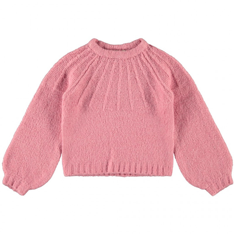 Πλεκτό πουλόβερ, ροζ  200173