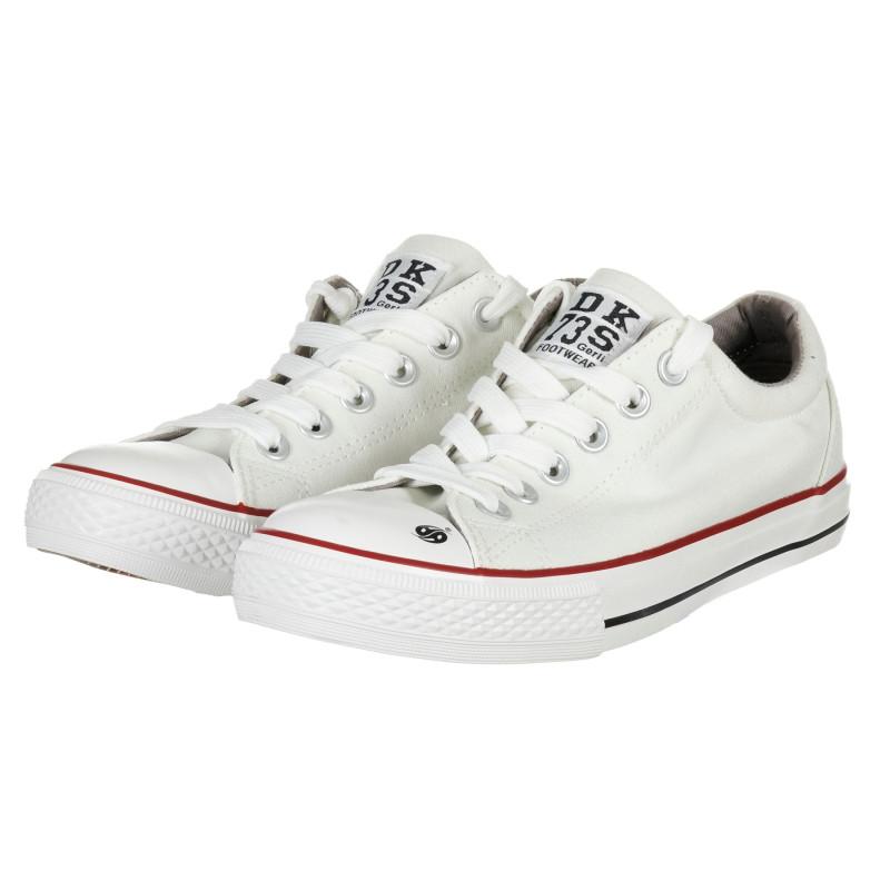 Λευκά sneakers με κορδόνια για κορίτσι  202254