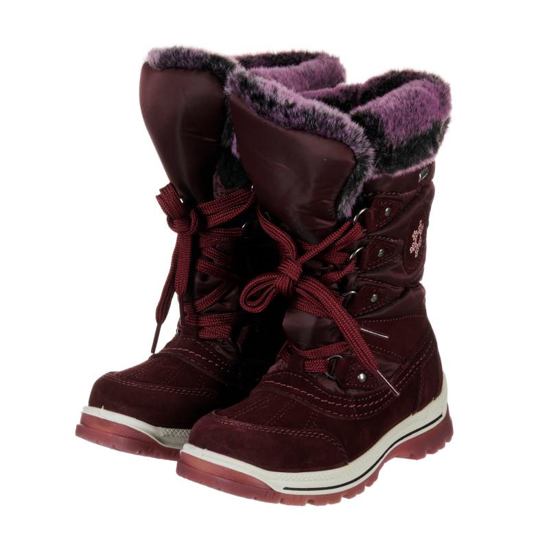 Χειμερινές μπότες σε μοβ χρώμα  202336