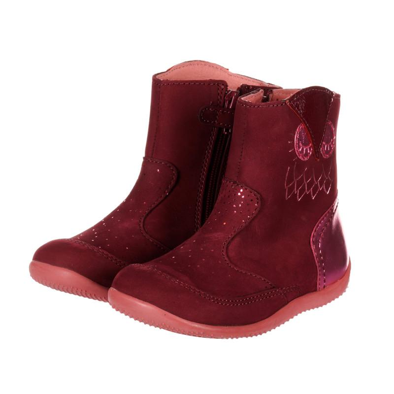 Σουέτ μπότες με μωβ διακόσμηση   202513
