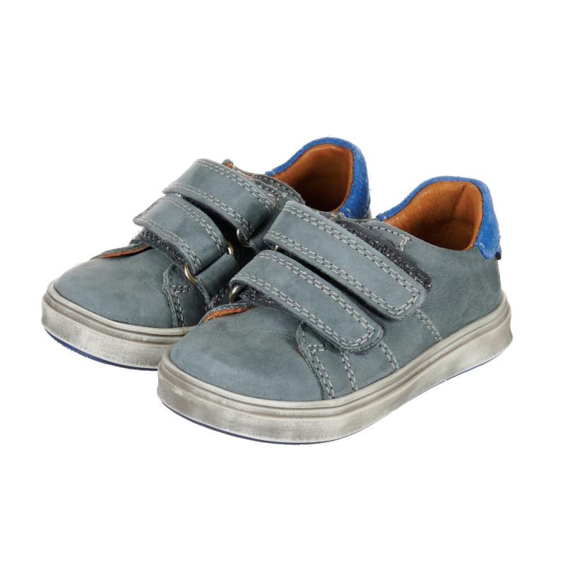 Βρεφικά, δερμάτινα sneakers, σε γκρι χρώμα  202720