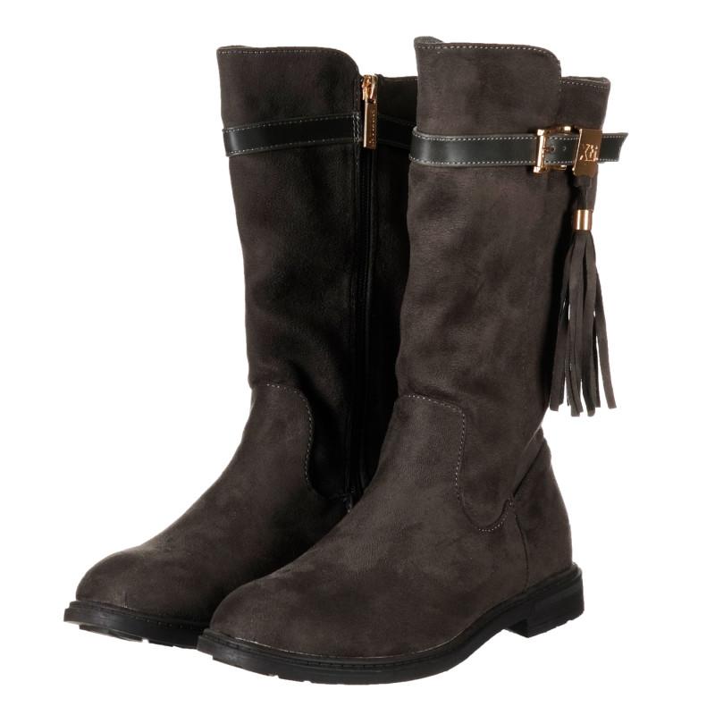 Ψηλές μπότες, σε γκρι χρώμα  202879