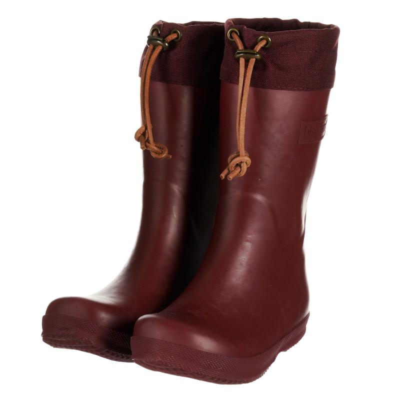 Λαστιχένιες μπότες σε κόκκινο χρώμα  203237