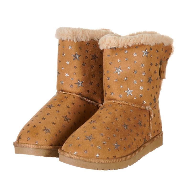 Καφέ μπότες με αστέρια  203255