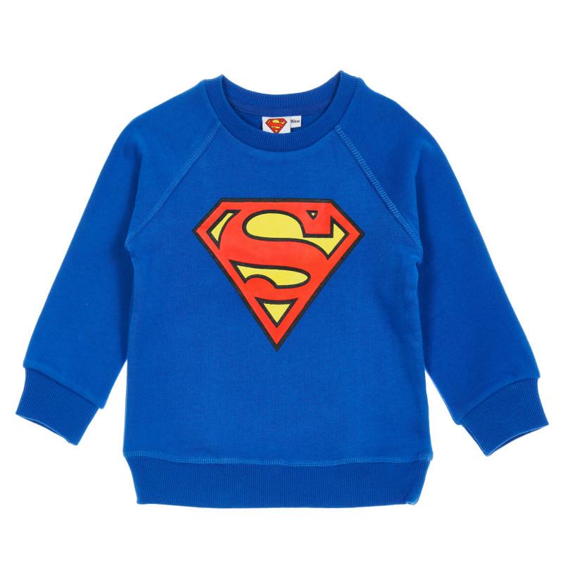 Μπλούζα με στάμπα Superman, μπλε  204143