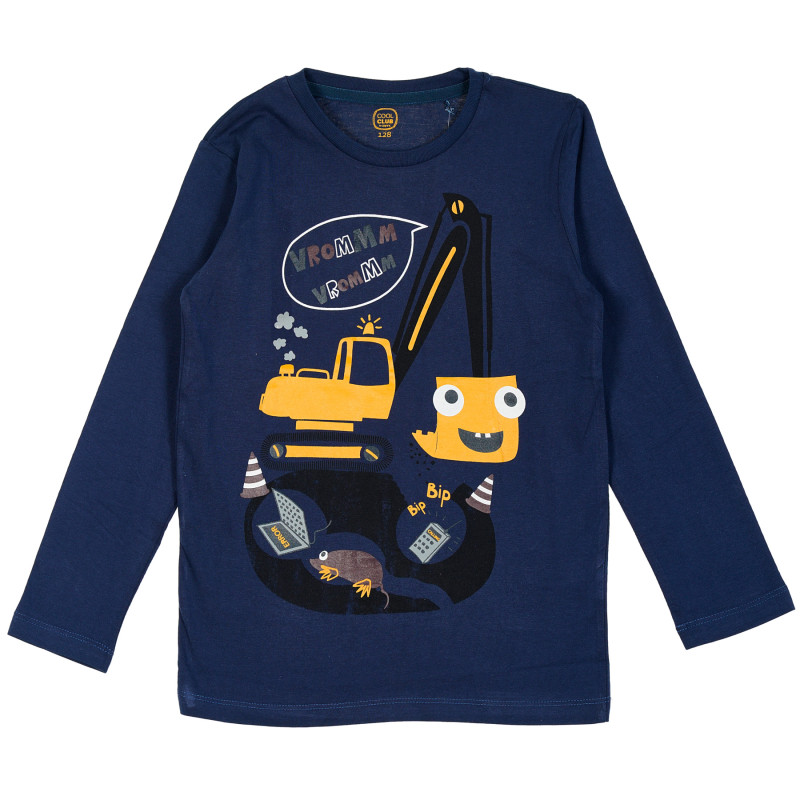 Μπλούζα με σχέδιο σε μπλε χρώμα  205451