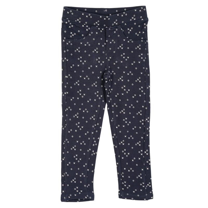 Παντελόνι με σχέδιο για μωρό, μπλε  205459