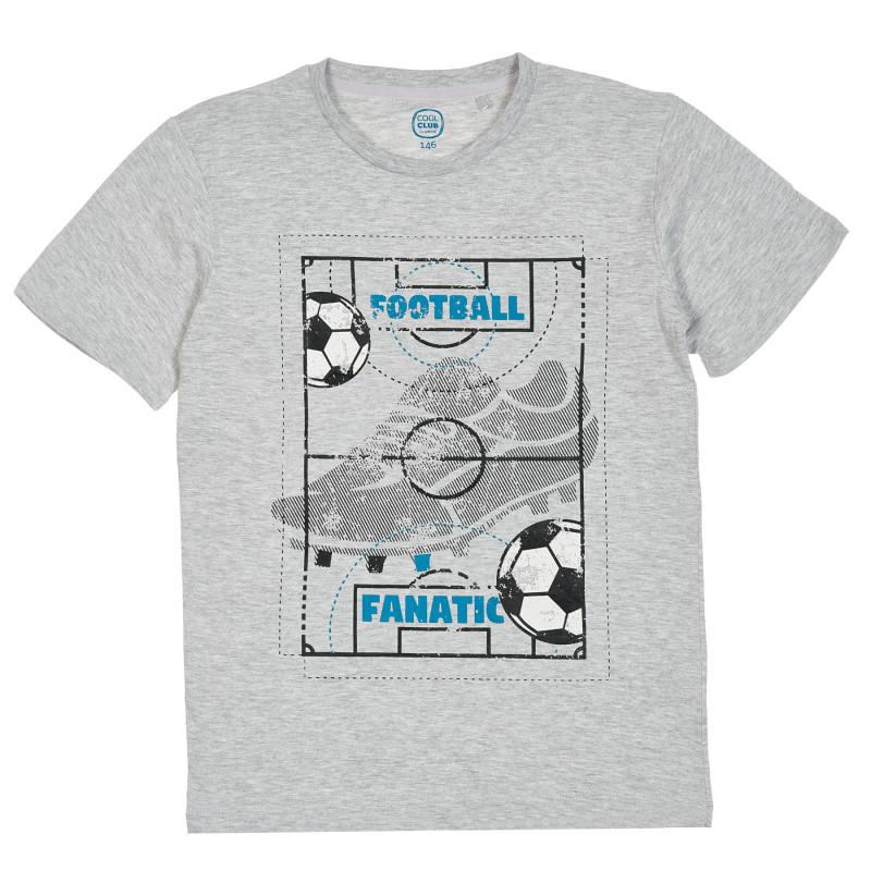 Μπλούζα με σχέδιο, γκρι  205493