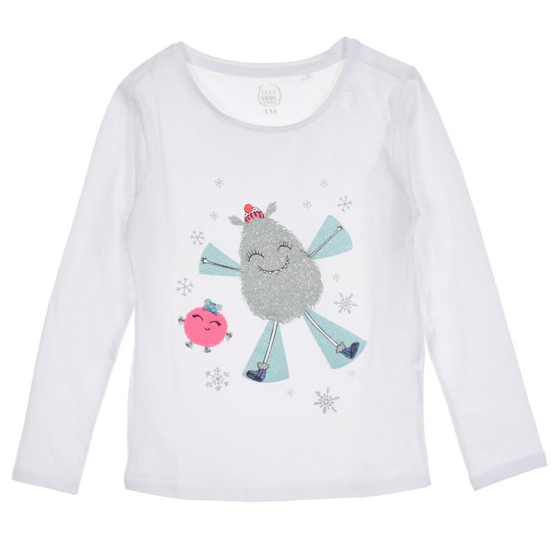 Μπλούζα με τύπωμα σε λευκό  205597