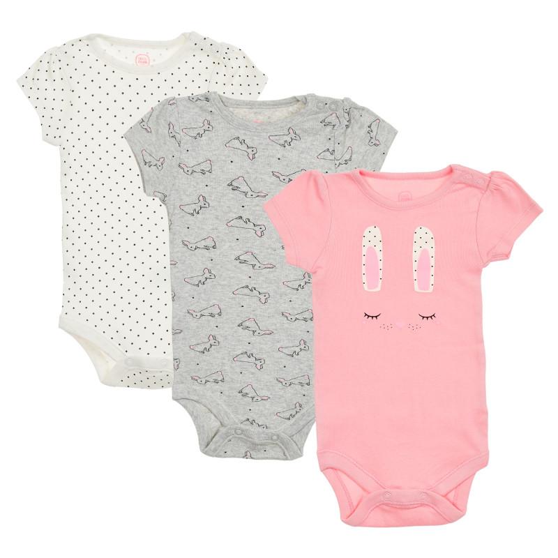 Σετ από τρία κορμάκια μωρού, πολύχρωμα  206338
