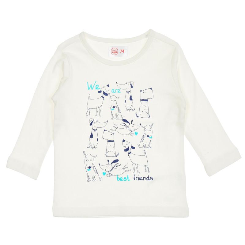 Μπλούζα με σχέδιο κουταβιών για μωρό, σε λευκό  206351