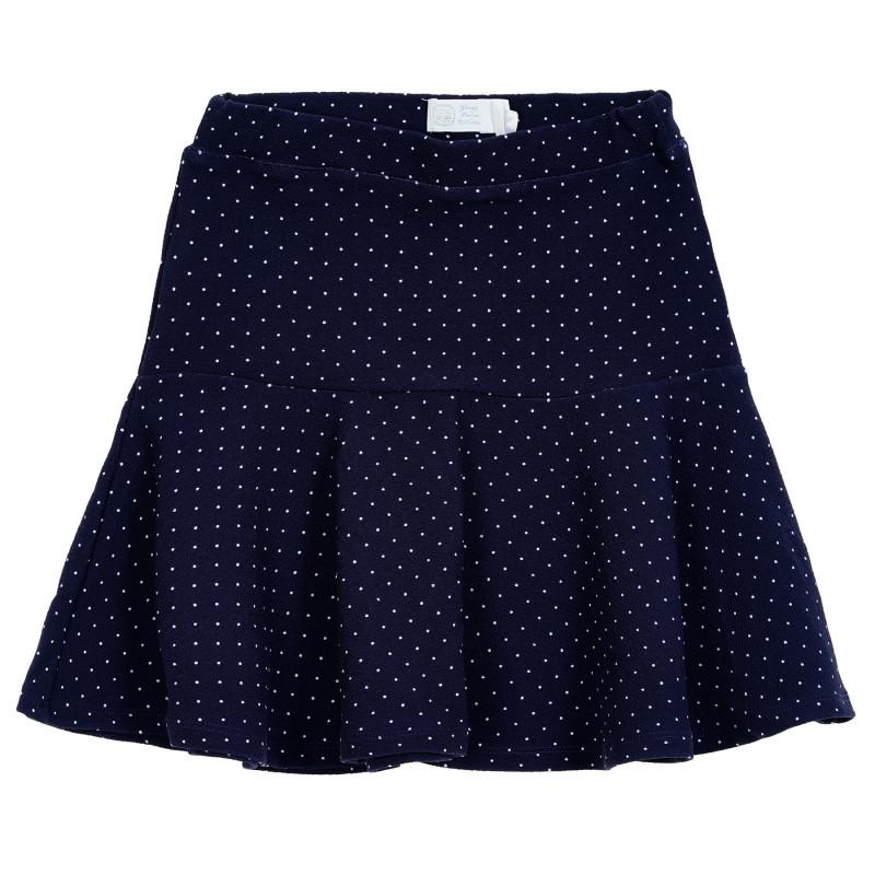 Φούστα με τύπωμα λευκών κουκκίδων για μωρά, μπλε  206379