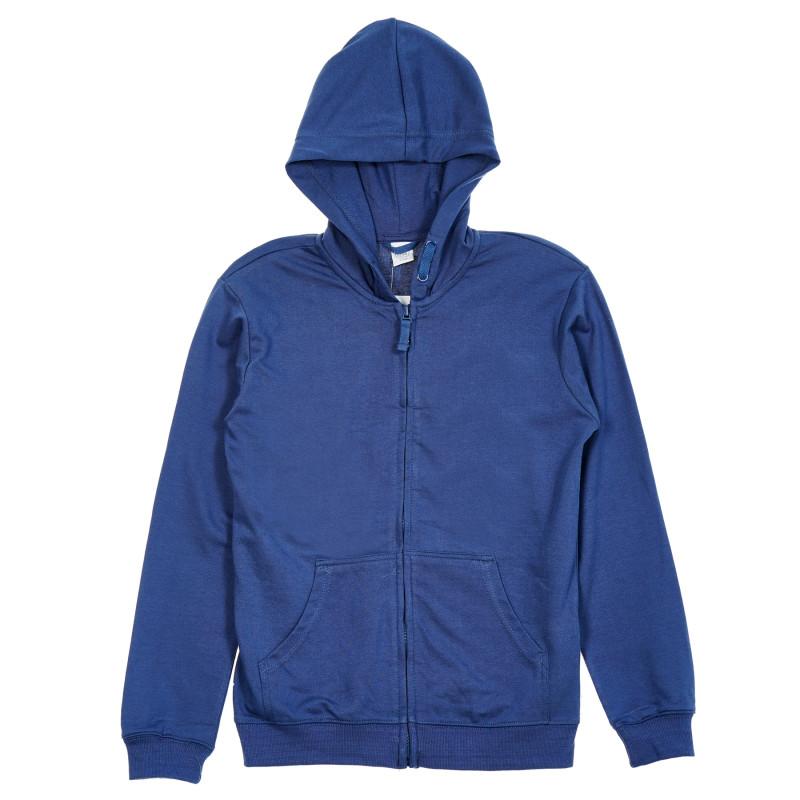 Μπλε φούτερ με κουκούλα και φερμουάρ  206387