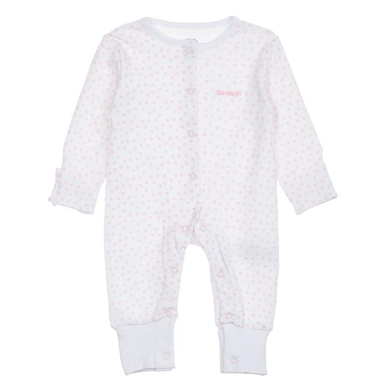 Φόρμες με τύπωμα καρδιάς για μωρά, λευκό  206454