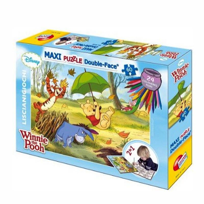Παιδικό παζλ Winnie the Pooh 2 σε 1 με μαρκαδόρους, 60 κομμάτια  207093