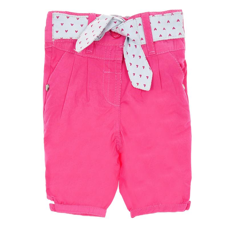 Βαμβακερό παντελόνι μωβ, ροζ  207313