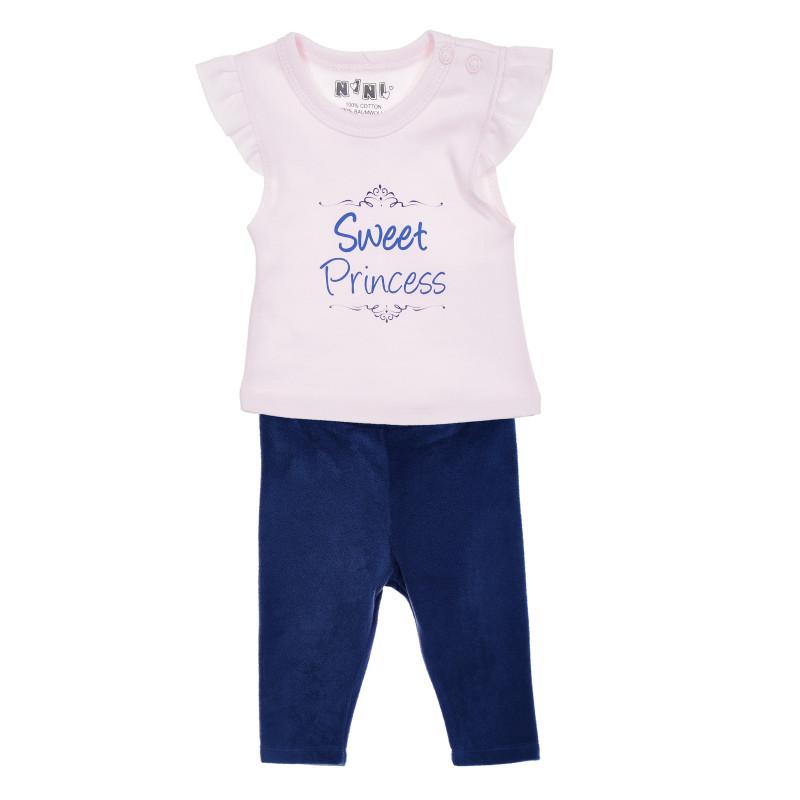 Βαμβακερή μπλούζα, ροζ  207348