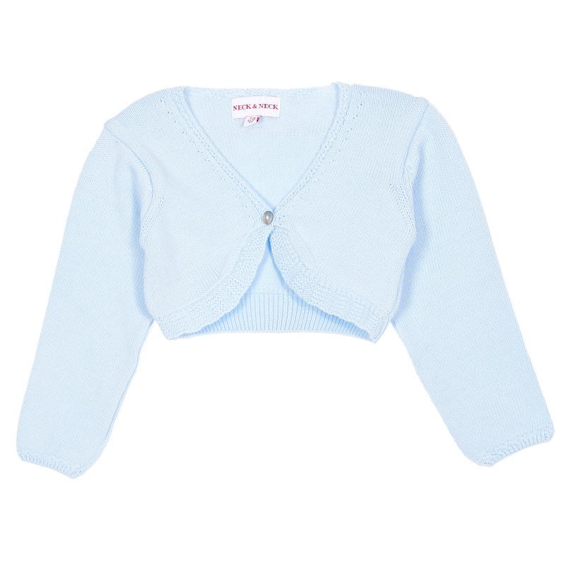 Πλεκτό μωρό μπολερό, μπλε  207359