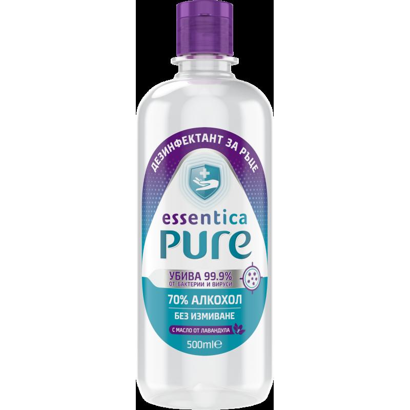 Essentica Pure απολυμαντικό χεριών, φιάλη με διανομέα, 500 ml  207613